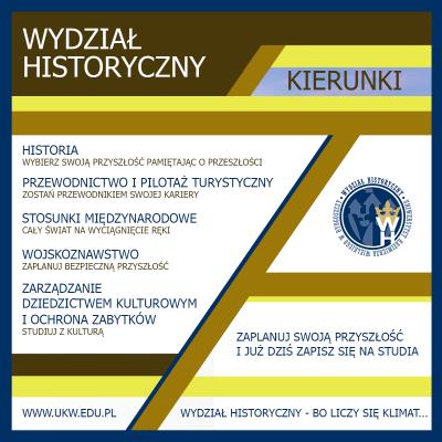 Wydział Historyczny - kierunki studiów